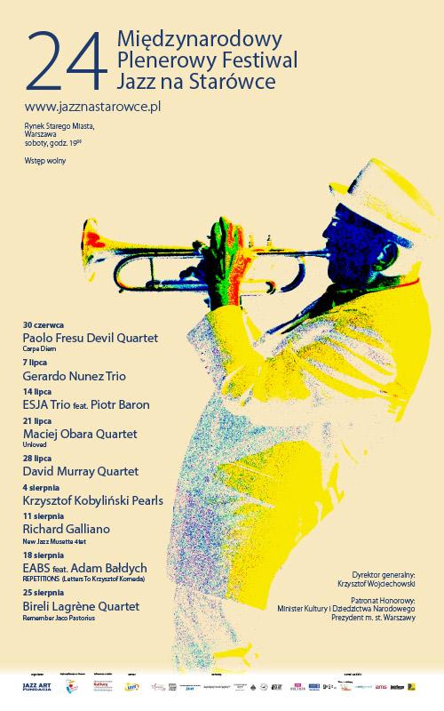 weekend 14 - 15 lipca w warszawie plakat-2018 Jazz na Starówce