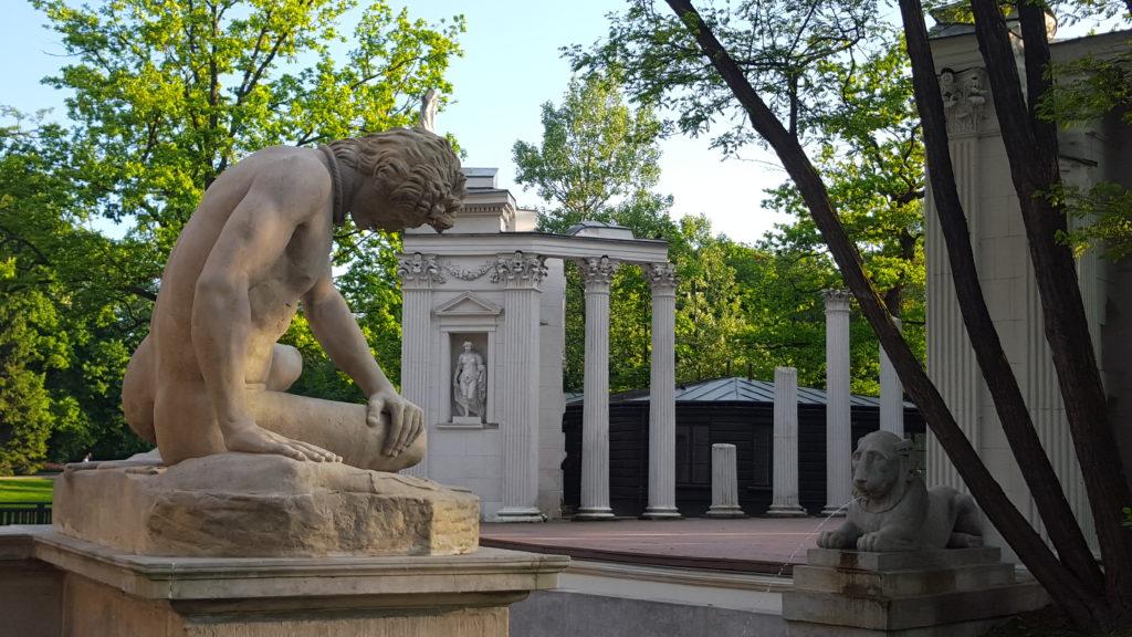 Lazienki Krolewskie Hanka Warszawianka amfiteatr