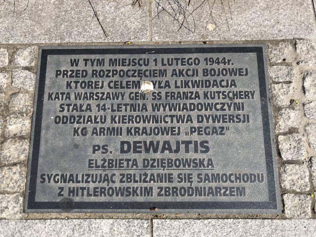 Ujazdowskie Hanka Warszawianka zamach na Kutscherę (2)