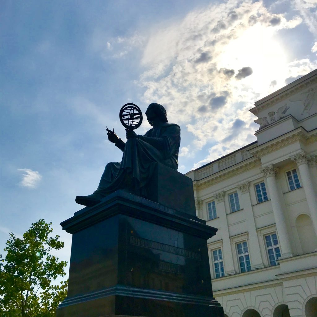 Pomnik Kopernika Hanka Warszawianka Kopernik